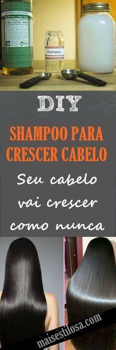O shampoo caseiro para estimular o crescimento dos cabelos é uma alternativa econômica e eficaz para quem sonha em ter um cabelão e não quer gastar muito. Além de fazer o cabelo crescer mais rápido, tbm fortalece os fios e combate a queda.