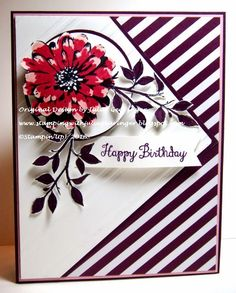 Stamping with Julie Gearinger: Happy Birthday Floral Stripes- A Color, Sketch and Theme Challenge :-)