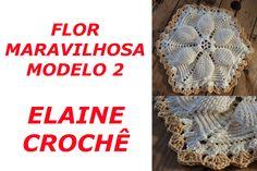 Nesta vídeo aula a Professora Elaine Tripiano ensina a confecção da Flor Maravilhosa em Crochê Modelo 2 A Professora Elaine Tripiano é a pioneira no ensino d...