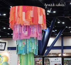 fabric chandelier... inspiration