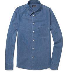 bellissima A.P.C.Washed-Denim Shirt|MR PORTER