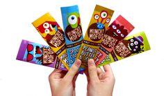 MUNCHY MOFOS: Munchy Monster Bars by Valerie Trisnadi, via Behance #packaging