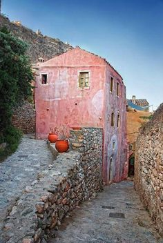 Monemvasia, Laconia, Greece by Nikos Pa Beautiful Islands, Beautiful Places, Myconos, Places To See, Places To Travel, Places In Greece, Greek House, Greek Isles, Belle Villa