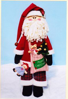 Pattern for Santa Claus with Raggedy Ann doll