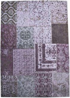 Patchwork vloerkleed paars - By Boo