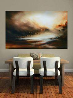 Gran lienzo pintura al óleo abstracta por el artista Simon