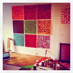 QR codes even in art...These just might make it up on our walls!  #QR Codes