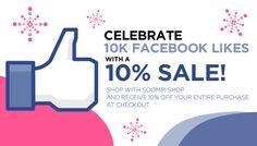 celebrating facebook likes   Soompi Shop] Celebrate 10K Facebook Likes With a 10% Sale!   Soompi