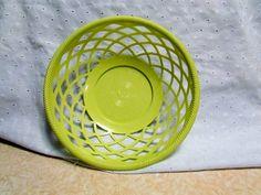 Basket Retro Plastic Atomic Green Versatile Bread Basket