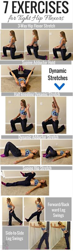 7 exercises for tight hip flexors