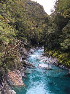 Blue Pools, Haast pass, New Zealand   Pinterest.strivetobefree.com