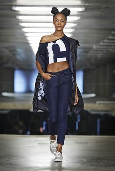 Cocoon parker & reversed fabric sweat & 3301 high skinny jean. www.g-star.com