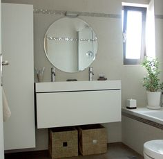 Making the most of small bathroom space.