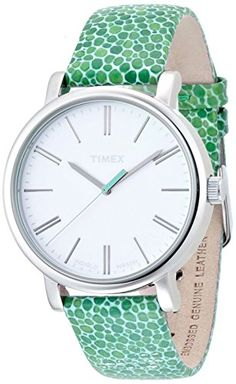 Women's Wrist Watches - Timex Womens Originals Quartz Brass and Leather Watch ColorBlue Model T2P324 * Visit the image link more details. (This is an Amazon affiliate link)