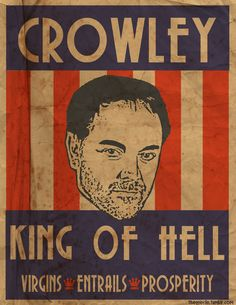 Crowley, King of Hell ~ Supernatural Fan Art