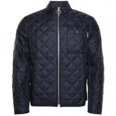 Barbour International Mens Navy Axle Quilted Jacket