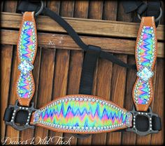 Tie Dye Chevron Cheek Halter - DEUCES WILD TACK LLC