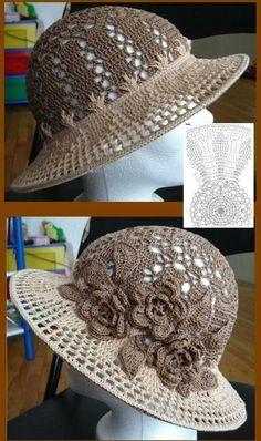 Exceptional Stitches Make a Crochet Hat Ideas. Extraordinary Stitches Make a Crochet Hat Ideas. Bonnet Crochet, Crochet Cap, Crochet Shoes, Irish Crochet, Diy Crochet, Crochet Crafts, Crochet Clothes, Crochet Flower Hat, Crochet Projects