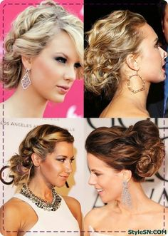 Twisted updos are perfect for cheating the 'I've spent hours on my hair' look Formal Hairstyles, Celebrity Hairstyles, Bride Hairstyles, Blonde Balayage, Blonde Highlights, Blonde Hair, Hair Styles 2014, Long Hair Styles, Pagent Hair