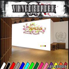 Exotic paradise Royal designs Beauty Queen Wall Decal - Vinyl Sticker - Car Sticker - Die Cut Sticker - SM041