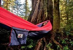 If you're into camping and don't want to be sleeping on the hard ground, this is the way to go. A camp hammock - it's a floating tent. Check it out here.