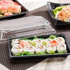 5.5 x 3 Set of 50 Sushi Container Tray Sets