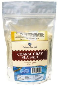 Coarse Gray Sea Salt From Guérande 1 Lb Stand up Pouch - http://spicegrinder.biz/coarse-gray-sea-salt-from-guerande-1-lb-stand-up-pouch/