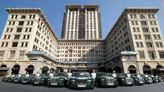 """Known as the """"Grand Dame of the East,"""" the Peninsula Hong Kong is the flagship property of Peninsula Hotels and the city's oldest hotel. Since opening in 1928, its set the standard for luxury in Hong Kong, from its glossy fleet of green Rolls Royce Phantoms to the private jet available for guest use."""