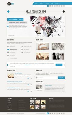 This is an easy modern to customize psd template, can be used in creative portfolios and photography, its clean and minimalistic. Well Organized layers makes it very easy to update Site content is 960px wide, Clean and multipurpose design.
