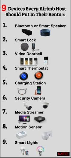 9 Devices Every Airbnb Host Should Put In Their Rentals. These items will make check-ins easier//airbnb ideas best airbnb airbnb decor airbnb tips Airbnb Rentals, Cabin Rentals, Vacation Rentals, Air Bnb Tips, Paris Airbnb, Airbnb Wedding, Airbnb Design, Airbnb House, Paris Rooms