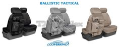 CoverKing Ballistic Tactical Custom Seat Covers for Dodge Ram 1500 #Coverking