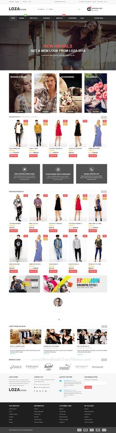 Buy Loza Store - Multipurpose Responsive Magento Theme by themevast on ThemeForest. The Loza Store is a Multipurpose Responsive Magento Theme. If you want to have a very unique and attractive design an. Amazing Website Designs, Mall Design, Creative Web Design, Ui Web, Web Design Trends, Website Layout, Interactive Design, Web Design Inspiration, Material Design