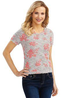Floral Reverse Loop Sweatshirt Athleisure Cato Fashions