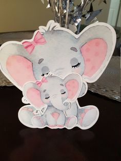baby Elephant cutout for baby shower, Elephant baby Shower girl, Pink Elephant baby shower, it'a a girl party Baby Shower Niño, Baby Girl Shower Themes, Girl Baby Shower Decorations, Baby Shower Invites For Girl, Baby Shower Parties, Baby Girl Elephant, Elephant Theme, Elephant Baby Showers, Elephant Nursery