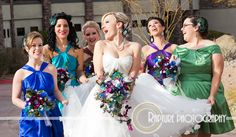 Glorious Peacock Garden Bridal Package with PURPLE and TURQUOISE accents custom created for Sharon - 50% Deposit Listing