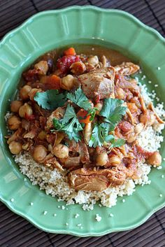 Slow-Cooker Moroccan Chicken, Chickpea, and Apricot Tagine