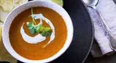 Soupe indienne de lentilles rouges par Josée di Stasio - di Stasio - Téléquébec