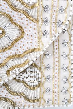 The impression the Etched in Stone Cream Beaded Clutch will leave on your friends is one that will surely last! Unforgettable gold, silver, and ivory beaded patterns. Gold Clutch, Beaded Clutch, Abaya Designs, Envelope Clutch, Interior Walls, Beading Patterns, Gold Chains, Embroidery, Appliques
