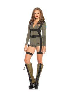 Top Gun Romper Adult Womens Costume 347054
