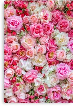 'Pink Red Roses Romantic Floral Print' Photographic Print by newburyboutique - Aesthetic - Blumen Rose Background, Flower Background Wallpaper, Flower Phone Wallpaper, Rose Wallpaper, Flower Backgrounds, Backdrop Background, Wallpaper Backgrounds, Pink Floral Background, Iphone Backgrounds