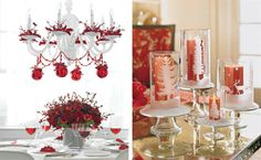 Fantastic Christmas Candles Decoration Ideas with Elegant Design: Beautiful Christmas Candles Decoration Ideas Simple Table Decor ~ ozvip.com Ideas