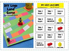 Lego game - combination of candyland & snakes & ladders