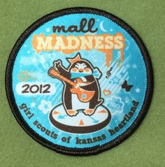 Girl Scouts Kansas Heartland 100th anniversary patch. Mall Madness, 2012. Thank you, Laura.