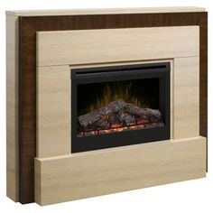 Found it at Wayfair - Gibraltar Electric Log Fireplace in Natural