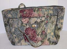 Vtg DVF Diane Von Furstenberg Multicolor Floral Tapestry Overnight Tote Carry On #DianevonFurstenberg