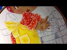 Pintura en tela niña lavando # 4 con cony - YouTube