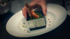 Risotto nero di sepia with shrimps and asparagus by La Farine