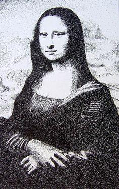 pointillisme black and white