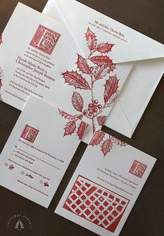 Christmas Invitation by Dingbat Press