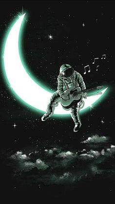 Music Man In The Moon Cross-Stitch Pattern Space Artwork, Wallpaper Space, Dark Wallpaper, Galaxy Wallpaper, Wallpaper Backgrounds, Screen Wallpaper, Wallpaper Quotes, Astronaut Wallpaper, Paris Markets